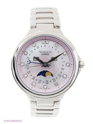 Часы Sheen SHE-3044D-4A CASIO. Цвет: серебристый