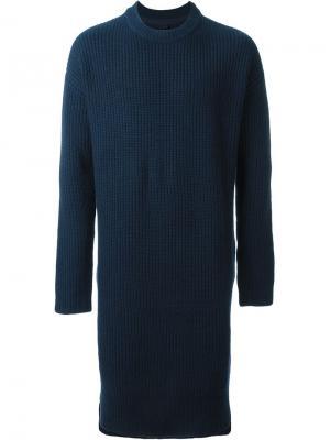 Удлиненный свитер No. 12 Extreme Cashmere. Цвет: синий