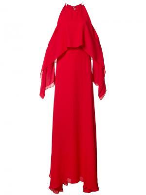 Свободное вечернее платье Rosetta Getty. Цвет: красный