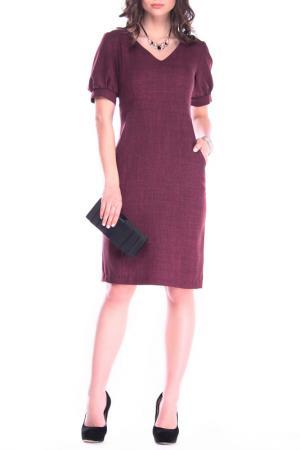 Офисное платье-футляр Laura Bettini. Цвет: сливовый