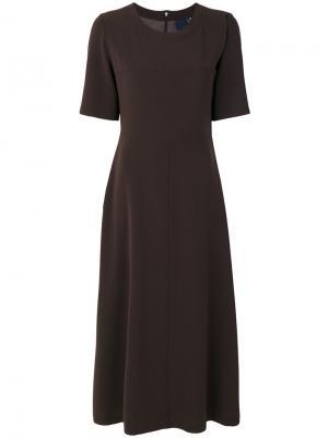 Расклешенное платье-футболка Aspesi. Цвет: зелёный