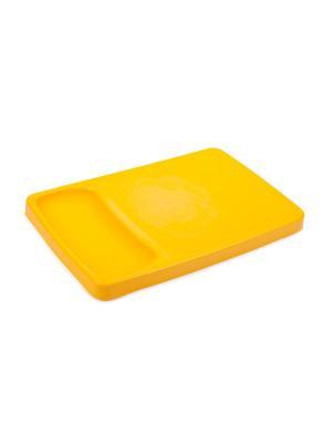 Доска разделочная с лотком Kleo (солнечный) Berossi. Цвет: желтый