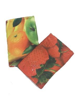 Набор полотенец A and C Collection. Цвет: желтый, зеленый, красный