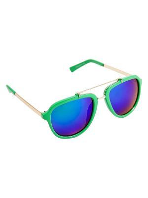Солнцезащитные очки Kameo-bis. Цвет: зеленый, золотистый, синий