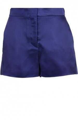 Мини-шорты с завышенной талией и карманами Acne Studios. Цвет: синий
