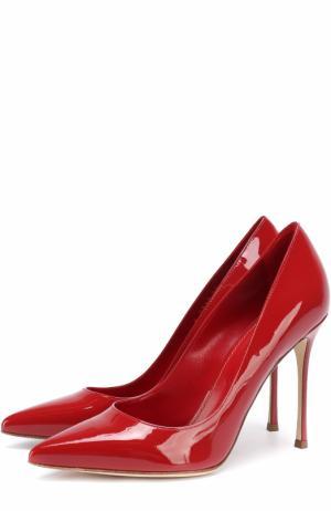 Лаковые туфли на шпильке Sergio Rossi. Цвет: красный