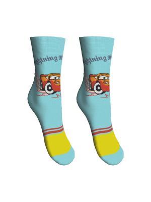 Носки 2 пары Master Socks. Цвет: бирюзовый, желтый