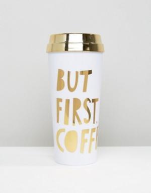 BAN DO Термокружка Ban.Do But First Coffee. Цвет: мульти