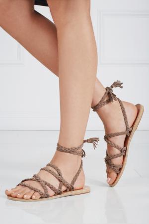 Замшевые сандалии Kariatida Mid Ancient Greek Sandals. Цвет: none