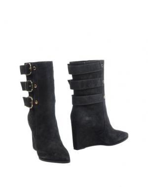 Полусапоги и высокие ботинки LELLA BALDI. Цвет: свинцово-серый