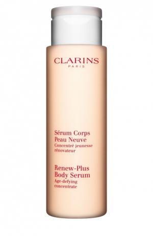 Омолаживающая и обновляющая кожу сыворотка для тела Serum Corps Peau Neuve Clarins. Цвет: бесцветный