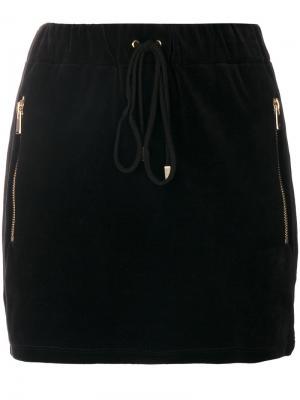Мини-юбка с боковой молнией Alexandre Vauthier. Цвет: чёрный