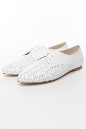 Весенние туфли KB. Цвет: белый