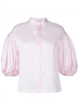Рубашка с пышными рукавами Dice Kayek. Цвет: розовый и фиолетовый