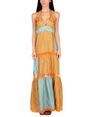 Пляжное платье VDP BEACH. Цвет: оранжевый
