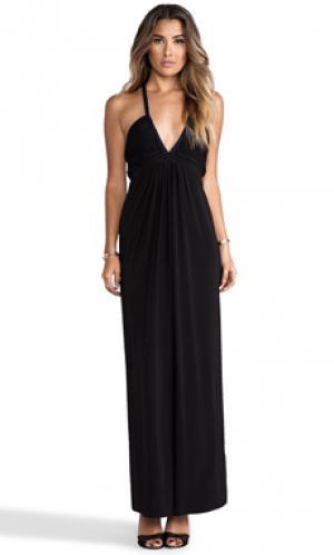 Платье-макси с глубоким v-образным вырезом T-Bags LosAngeles. Цвет: черный