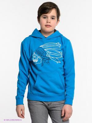 Толстовка HOOD RIB YOUTH A4 Quiksilver. Цвет: голубой