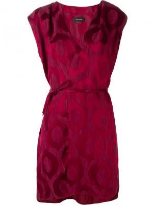 Жаккардовое платье Sudley Isabel Marant. Цвет: розовый и фиолетовый