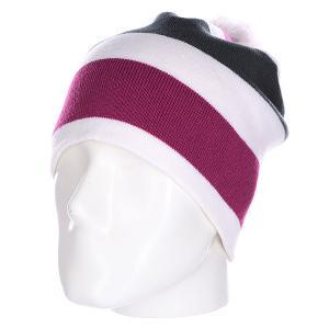 Шапка носок  Stripes Prune Multicolor Apo. Цвет: фиолетовый,белый,серый