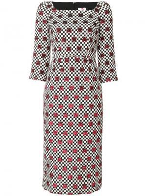 Metallic heart print dress Ultràchic. Цвет: чёрный