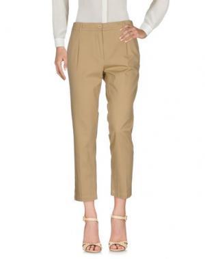 Повседневные брюки 19.70 NINETEEN SEVENTY. Цвет: песочный
