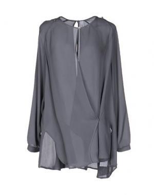 Блузка HIGH. Цвет: свинцово-серый