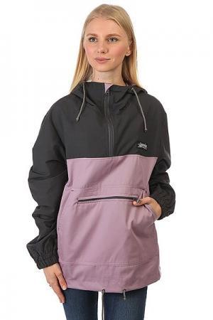 Анорак женский  Anorakcotton Серый/Фиолетовый Anteater. Цвет: серый,светло-фиолетовый