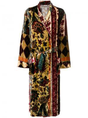 Длинное пальто с принтом Pierre-Louis Mascia. Цвет: многоцветный
