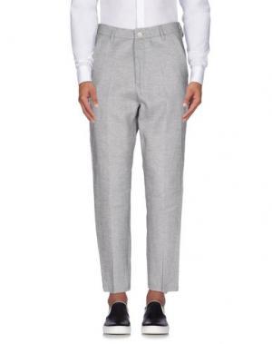 Повседневные брюки 26.7 TWENTYSIXSEVEN. Цвет: светло-серый
