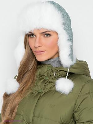 Шапка-ушанка Ваша Шляпка. Цвет: зеленый