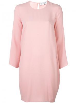 Платье с круглым вырезом и длинными рукавами Gianluca Capannolo. Цвет: розовый и фиолетовый