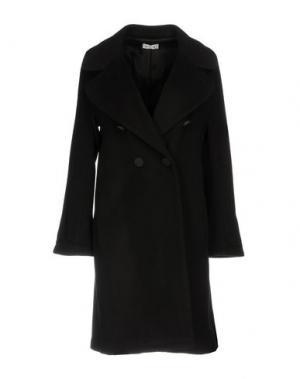 Пальто LIST. Цвет: темно-коричневый