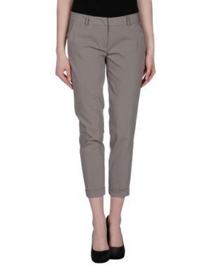 Повседневные брюки TWELVE-T. Цвет: свинцово-серый