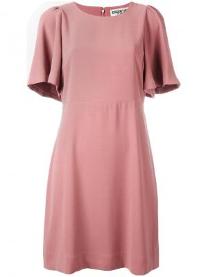 Платье с расклешенными рукавами Essentiel Antwerp. Цвет: розовый и фиолетовый
