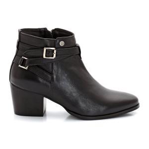 Ботинки кожаные Pereire ELLE. Цвет: черный