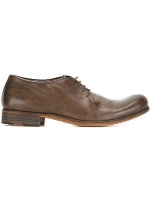 Туфли на шнуровке Ma+. Цвет: коричневый