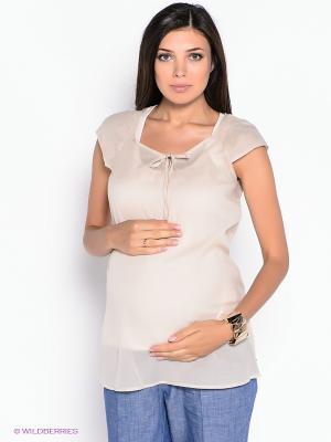 Блузка ESPRIT. Цвет: бежевый
