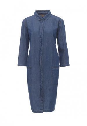 Платье джинсовое Ichi. Цвет: синий