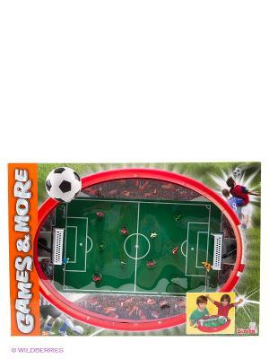 Футбольная арена, 55х41х8 см, 1/6 Simba. Цвет: зеленый, красный