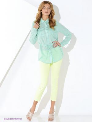 Блуза Malvin. Цвет: бирюзовый