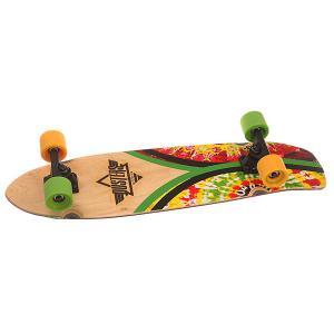 Скейт круизер  Flashback Cruiser Rasta Tie Dye 7 x 31 (78.7 см) Dusters. Цвет: мультиколор