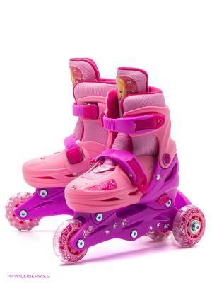 Ролики раздвижные Barbie Next. Цвет: бледно-розовый