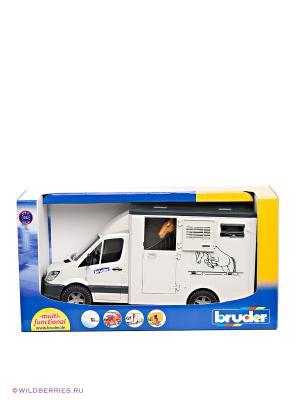 MB Sprinter фургон с лошадью Bruder. Цвет: белый