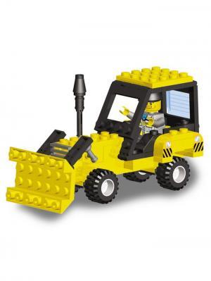 Конструктор SuperBlock Большая стройка Трактор M Склад Уникальных Товаров. Цвет: желтый