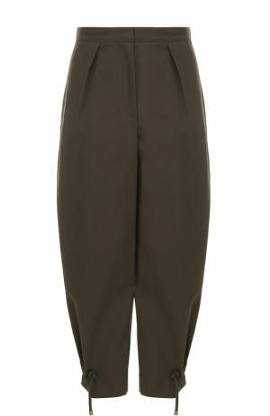 Укороченные брюки-бананы Kenzo. Цвет: хаки