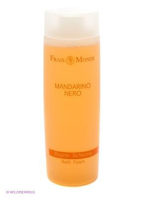 Пена для ванны с ароматом черного мандарина Frais Monde. Цвет: светло-желтый, белый