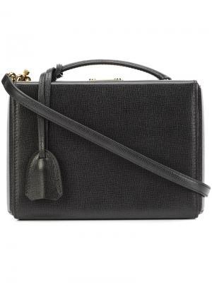 Маленькая сумка-тоут с одной ручкой Mark Cross. Цвет: чёрный