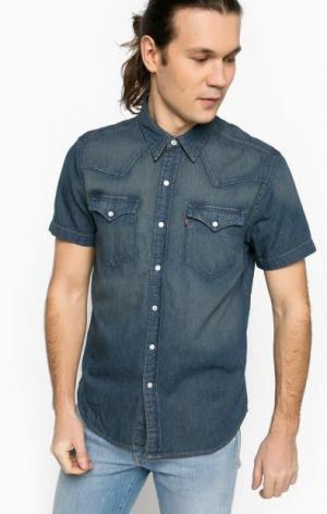 Джинсовая рубашка с короткими рукавами Levi's®. Цвет: синий