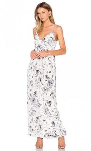 Платье long silk folded Zimmermann. Цвет: белый