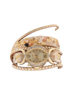 Браслет-часы Olere. Цвет: бежевый, золотистый